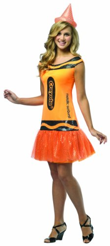 Rasta Imposta Crayola Metallic Sunburst Glitz & Glitter Dress, Orange, Teen 13-16