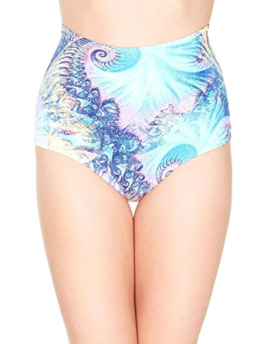 iHeartRaves Marine High Waisted Shorts (Small/Medium, Turquoise) (Queen Of Hearts Halloween Costume Party City)