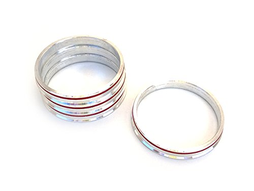 BR Tuning 4 Hub Centric Rings 73.1mm to 66.6mm OEM or Aftermarket Wheels Import Domestic
