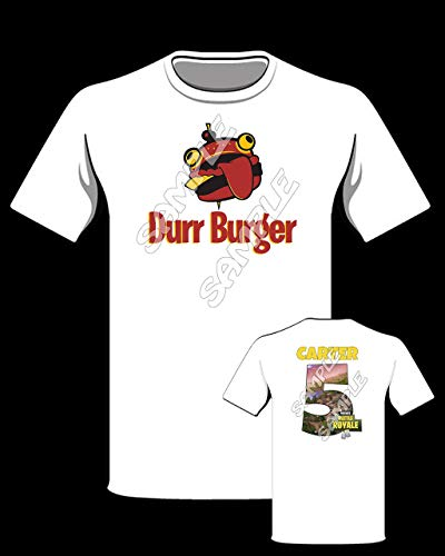 Fortnite Durr Burger themed Personalized Shirt, Fortnite birthday shirt #56 by Modd Co, Personalized T-shirts and MORE!