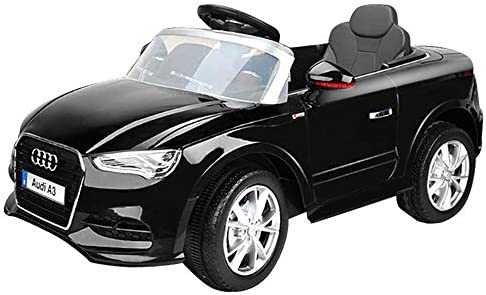 86066a725b5c TekBox AUDI A3 Ride On Car Officially Licensed Kids Childrens 12V Twin Motor  Electric Toy Vehicle with FREE SEAT COVER & Parental Remote Control (BLACK)