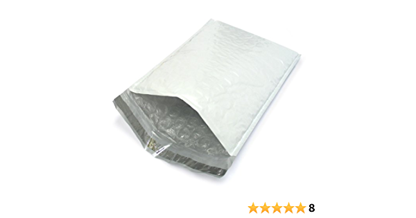 22 Poly Bubble Padded Envelope Mailers #00 5x 10 Self-Sealing Made in the USA!