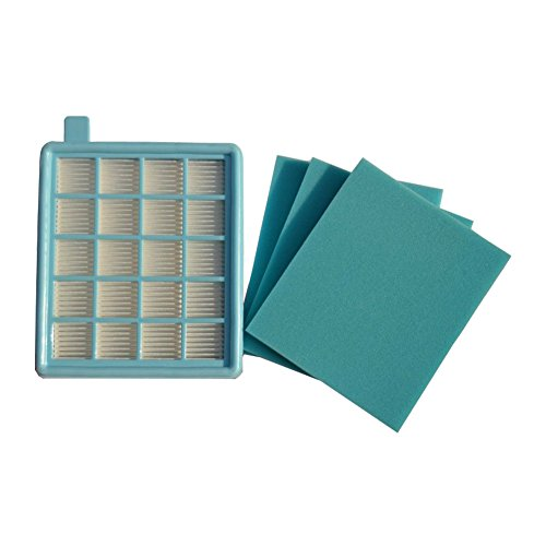 Meijunter HEPA Replacement Filters Sponge Kit for Philips FC8471 FC8470 FC8472 FC8473 FC8474 FC8630 FC8631 FC8632