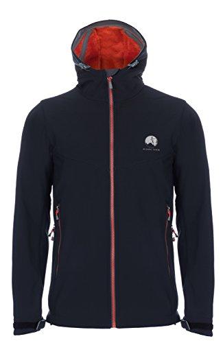 Cordillera One Light - Mishmi Takin Qaras Waterproof, Windproof, High Loft Fleece-Lined Soft Shell Men's Pirate Black Jacket, Medium