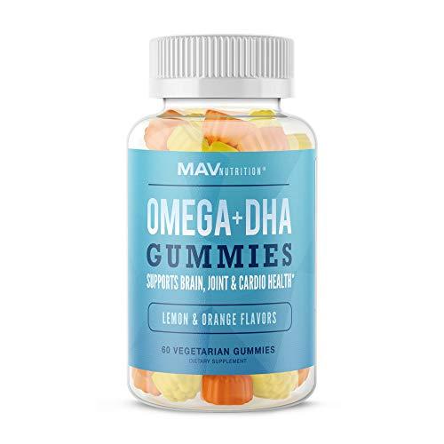 MAV Nutrition Fish Oil Omega 3 Gummies as DHA + Brain Supplement to Support Brain, Joint & Cardiovascular Health…