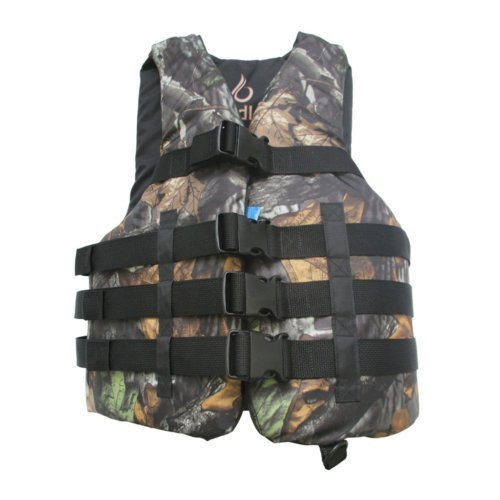 Bradley Fully Enclosed Deluxe 4-Buckle Adult Life Jacket Vest (Real Camo) (Buckle Vest)