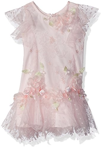 Biscotti Baby Girl's Heirloom Romance Dress Dress, Pink, (Heirloom Dresses For Girls)
