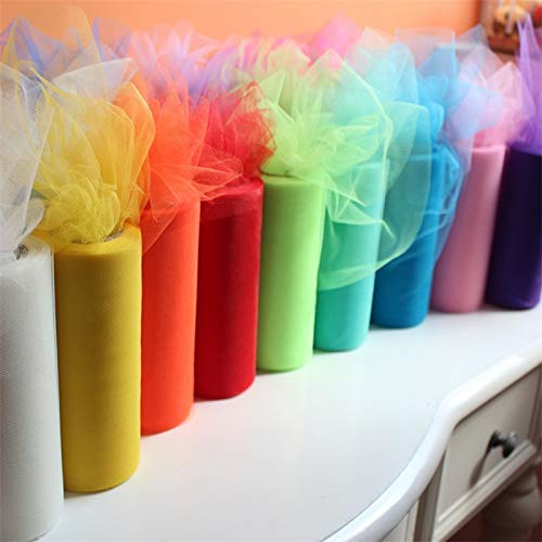 (Party DIY Decorations - 25 Yard 6inches Wedding Decoration Diy Roll Fabric Spool Craft Tulle Tutu Dress Silk Organza Party - Truck Park Under Jojo Ocean Heroes Organizer Boys Ideas)