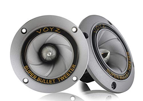 (Voyz Super Bullet Dispersion Horn Piezo Tweeter 3.5 inch 400 Watts Max)