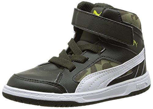Puma Rebound V2 Hi Camo V Kids - Zapatillas Unisex bebé Night/White/Olive/Spring