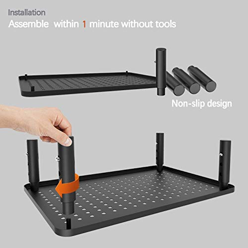 PUTORSEN Monitor Stand Riser with Vented Metal 3 Height Adjustable Monitor Stand for Computer, Laptop, iMac, Pc, Printer, Desktop Ergonomic Monitor Riser Stand with Non-Skid Rubber