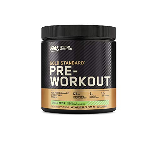 Optimum Nutrition Gold Standard Pre Workout with Creatine, Beta-Alanine, and Caffeine for Energy, Flavor: Green Apple, 30 Servings