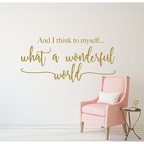 Song Lyrics What a Wonderful World Louis Armstrong Quote Wall - Good Halloween Songs