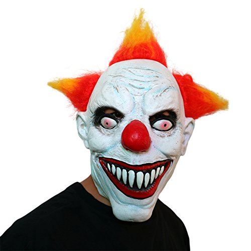 Cut Out Costumes Kids (Latex Halloween Party Cosplay Face Mask Clown Costumes Mask Pennywise Mask (Clown))