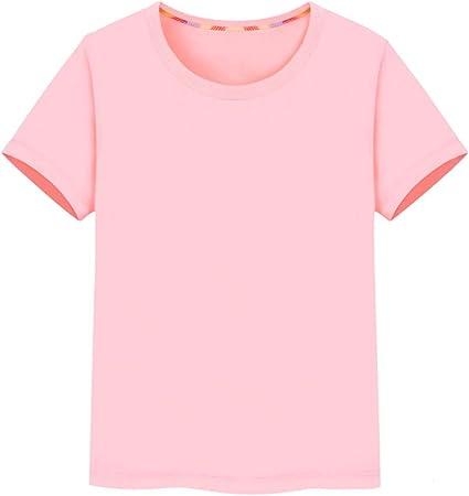 LF Camiseta De Color Liso Niños Pack De 1 Niño Camisetas Múltiples Opciones De Color,Pink-55in: Amazon.es: Hogar