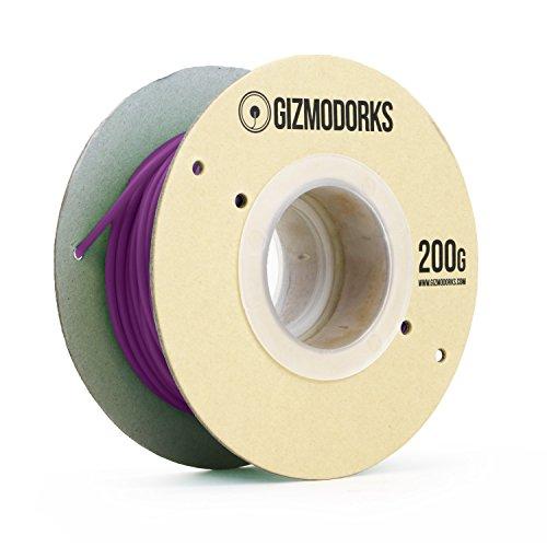 Gizmo Dorks PLA Filament for 3D Printers 1.75mm 200g, Purple