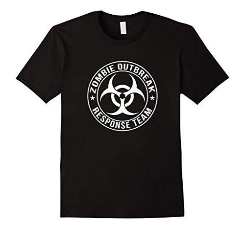 Zombie Response Costume (Mens Zombie Outbreak Response Team - Funny Halloween Costume Tee Small Black)