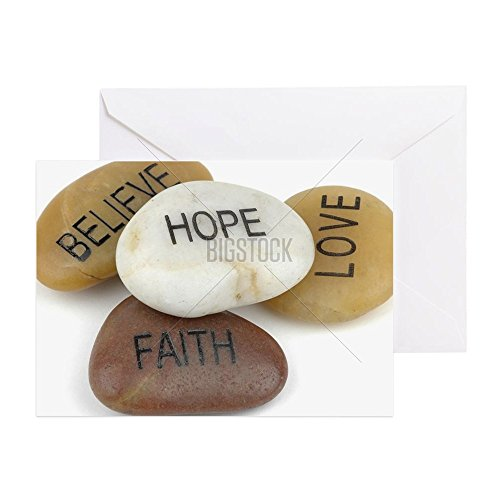 CafePress - Inspirational Stones - Greeting Card, Note Card, Birthday Card, Blank Inside Glossy