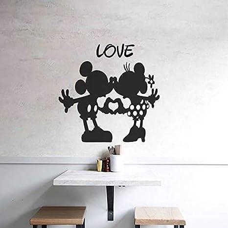 YuanMinglu Mouse Tatuajes de Pared Dibujos Animados jardín de Infantes Apliques de Vinilo Amor Pegatinas de Pared Sala de Estar Dormitorio niños 104x102cm: Amazon.es: Hogar