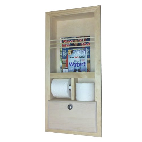 (Wood Cabinets Direct Orchard in The Wall Magazine Rack with Double Toilet Paper and Storage Cubby)
