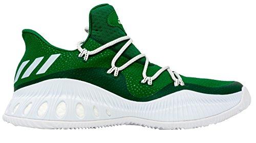 Adidas Pazzo Scarpa Bassa Esplosiva Mens Basket Verde-bianco-core Nero