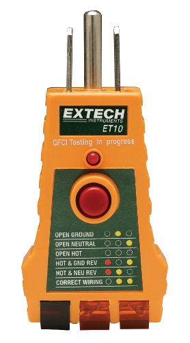 Extech ET10 GFCI Receptacle Tester, Outdoor Stuffs