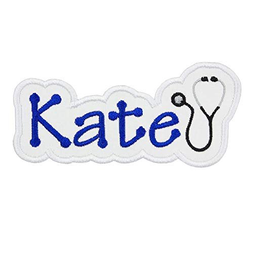Stethoscope Name Personalized Applique Patch - Iron on patch -