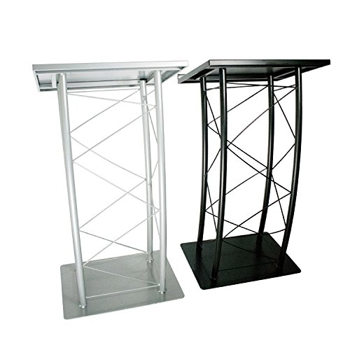 Source One Premium Metal Large Podiums In Black or Silver Modern Curved Design (Black) by Source one LLC