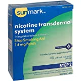 Sunmark Nicotine Transdermal System Step 2 14 mg Patches - 14 ct