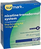 Sunmark Nicotine Transdermal System Step 2-14 mg Patches - 14 ct, Pack of 4