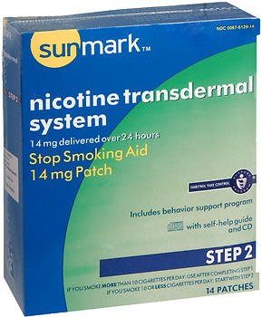 Sunmark Nicotine Transdermal System Step 2 14 Mg Patches   14 Ct