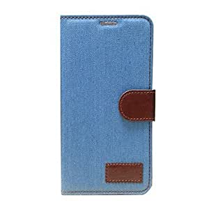 Buy Cowboy Cloth Pattern Stand Case with Card Slot and Wallet for iPhone 5C , Blue