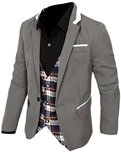 3 Button Patterned Wool Suit - 8
