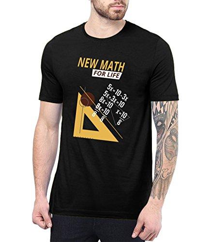 Decrum Mens Black Printed T Shirt Funny Math Shirt   New Math, XL ()