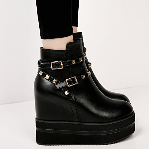 primavera il di GTVERNH invernali a femminili jacobs le 35 testa singolo scarpe martin alta scarpe34 l'aumento black stile nero stivali britannico con pendio wIZAqI