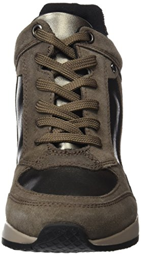 Nydame top a Taupe 's C6103 Women hi Chestnut Geox Zapatillas marrón qpAYEnw
