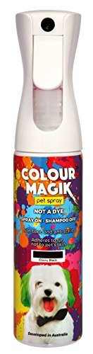 Petway Petcare Pet Paint Spray for Dogs 280 Ml - Color Safe Temporary Dog Hair Color Spray - Non Toxic, Eco Friendly, Propellant Free Dog Paint Ebony Black