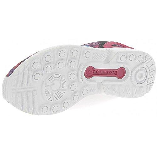 adidas Zx Flux J, Zapatillas para Niños, Rojo Multicolor (Bopink/bopink/ftwwht)