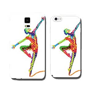 ballerina silhouette composed of colors cell phone cover case Samsung S5