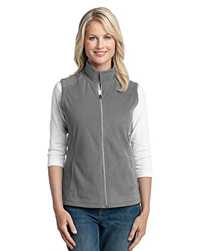 Port Authority Ladies Microfleece Vest, Pearl Grey, Medium