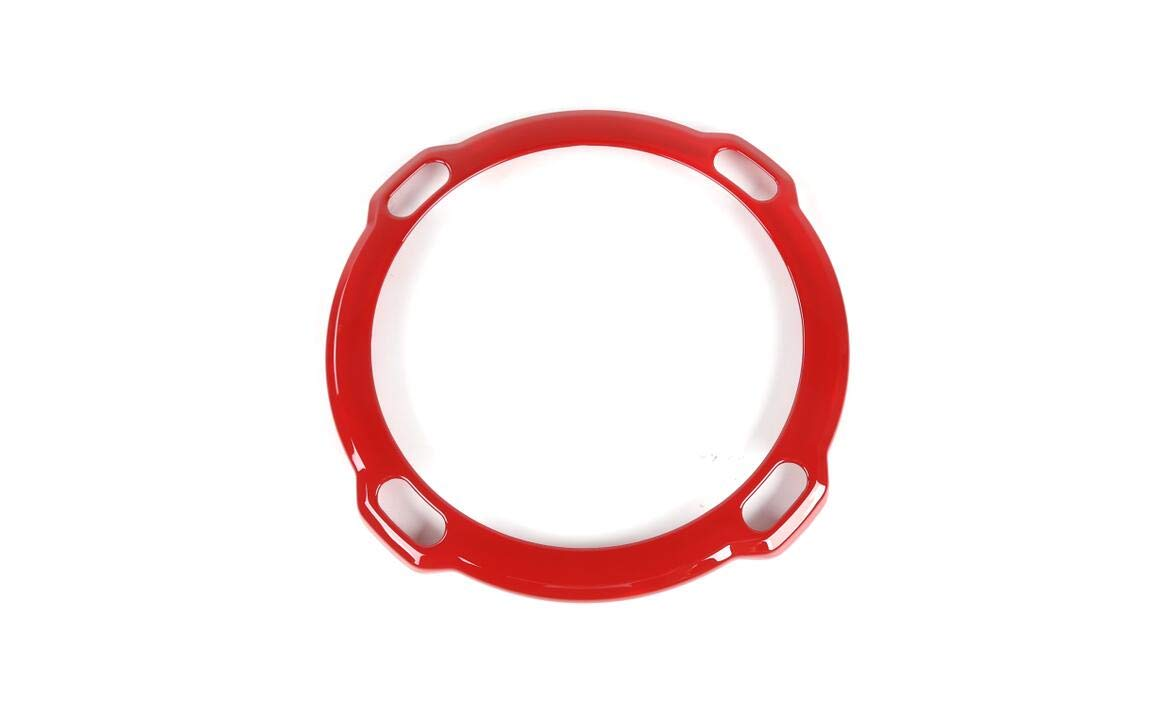 FMtoppeak 3Colors Interior Accessories Car Rear Trunk Speaker Cover Trim Ring for Jeep Wrangler JL Rubicon 2018 UP (Red) by FMtoppeak