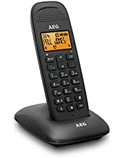 AEG Voxtel D81 - draadloze DECT-telefoon met handsfree-functie zwart.