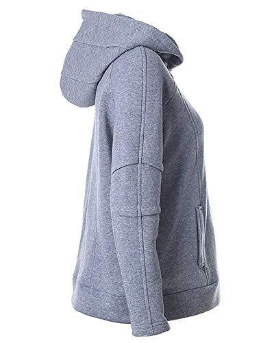 large À Clair Sweat Gris Xx Et Manches Capuche Couleur Zhrui Design Taille Longues Avec Oqw6HWx545