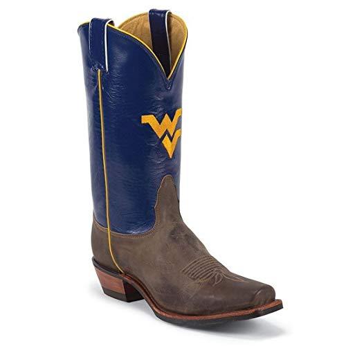 Nocona MDWV21 Mens West Virginia Blue/Tan Vintage Cowhide College Boots