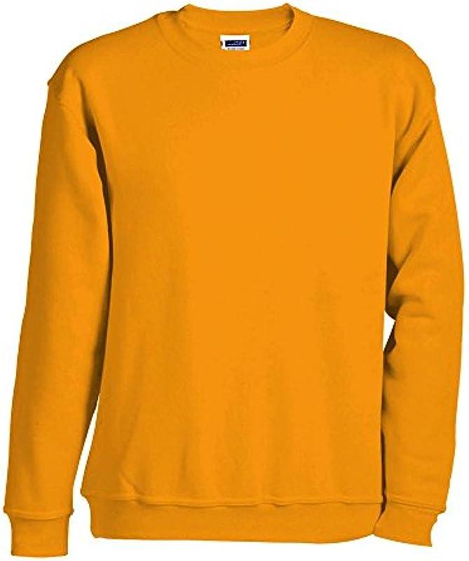 James & Nicholson - bluza 'Round Sweat Heavy' - do 5XL / złoty żÓłty, 4XL 4XL, złoty żÓłty: Odzież