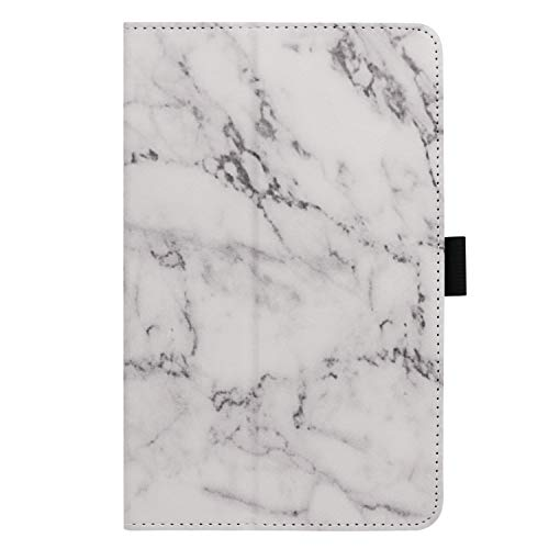 Ratesell Galaxy Tab A 8 (2019) Case, Multi-Angle Stand Slim-Book PU Leather Case Cover with Stylus Slot Holder Compatible with Samsung Galaxy Tab A 8 (2019) SM-P200 ; SM-P205 Marble