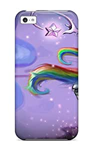 Tpu Case Cover For Iphone 5c Strong Protect Case - Unicorn Horse Magical Animal Cyborg Robot Fantasy Sexy Babe Psychedelic Design