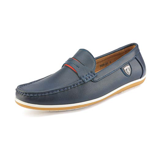 - Bruno Marc Men's BUSH-01 Navy Driving Loafers Moccasins Shoes - 13 M US