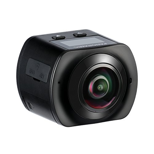 HiCool 360° Panoramic 16MP VR Action Camera 2448x2448 30fps Ultra HD DV Camcorder, WIFI Control One-Touch Sharing Spherical Lens with 30M Waterproof Depth HiCool