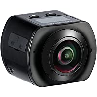 HiCool 360° Panoramic 16MP VR Action Camera 2448x2448 30fps Ultra HD DV Camcorder, WIFI Control One-Touch Sharing Spherical Lens with 30M Waterproof Depth